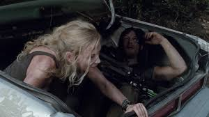 Beth and Daryl in a trunk